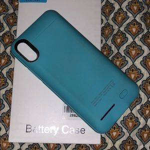 iPhone X battery case baby blue